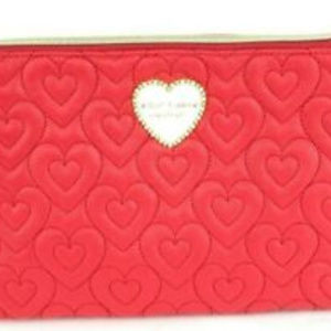 Betsey Johnson T-Bottom Quilted Puffed Red Hearts